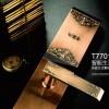 VOC 家用智能锁指纹密码锁防盗门锁T7701F AC红古铜