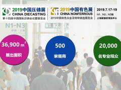 参展2019中国压铸展&中国有色展,六大卖点,不得不看!