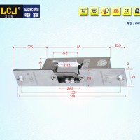 LCJ力士坚电锁口OC3303门禁电锁阴极锁窄口玻璃门夹
